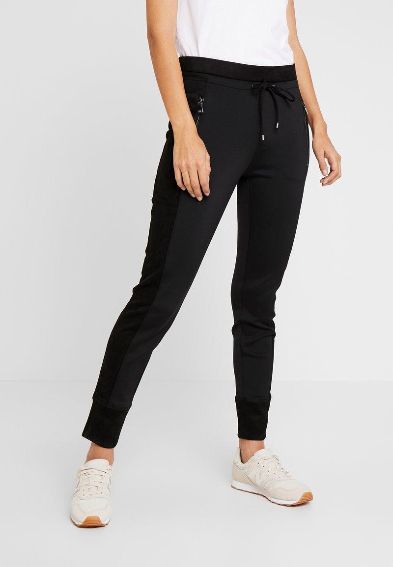 Opus - LEVINA - Spodnie materiałowe - black