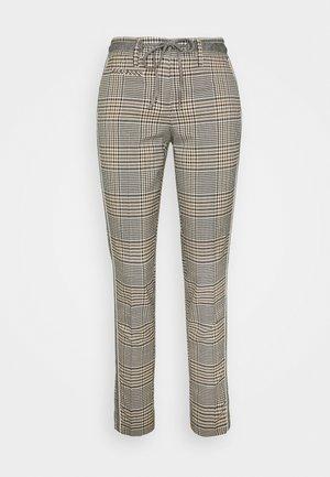 MORIEL MIXED CHECK - Pantalones - sandshell