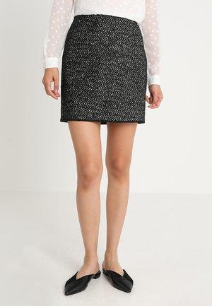RAVENNA MIXED - Mini skirt - black