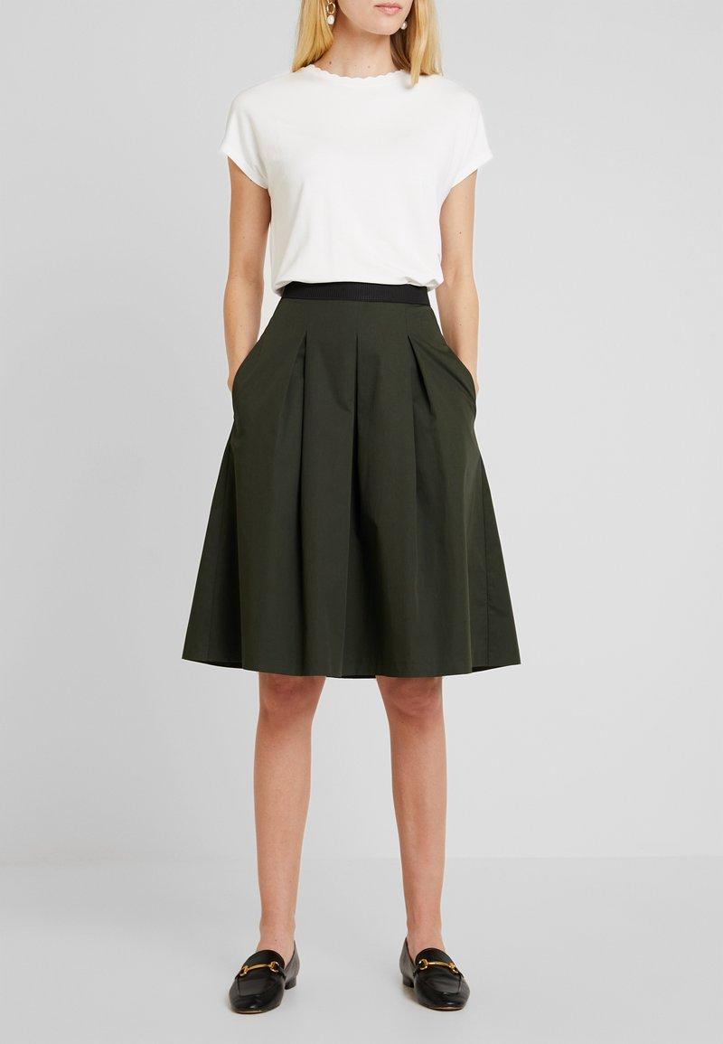 Opus - REJANA - A-snit nederdel/ A-formede nederdele - oliv green