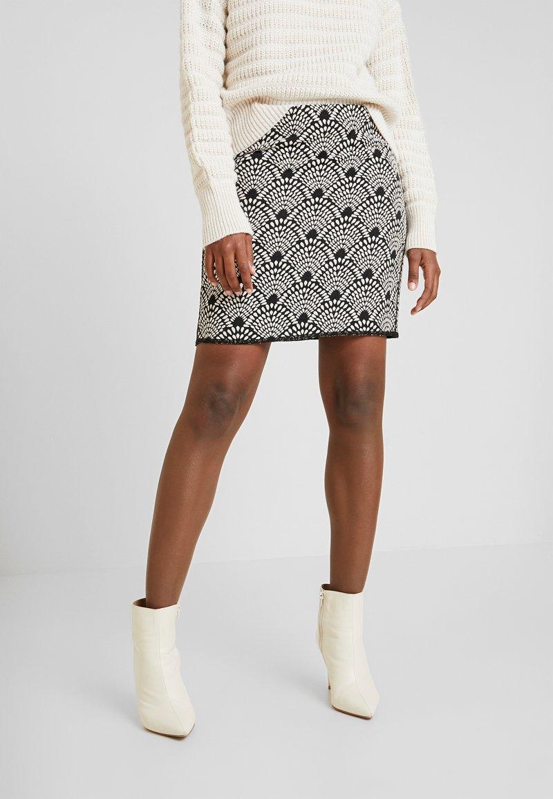 Opus - RAVENNA BABYLON - Mini skirt - black