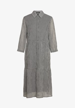 WILANI CHECK - Shirt dress - black