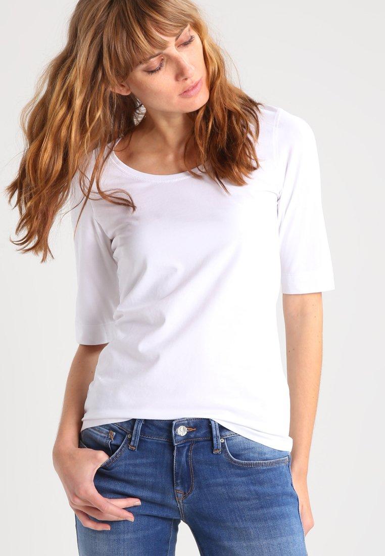 Opus - SANIKA - Jednoduché triko - white