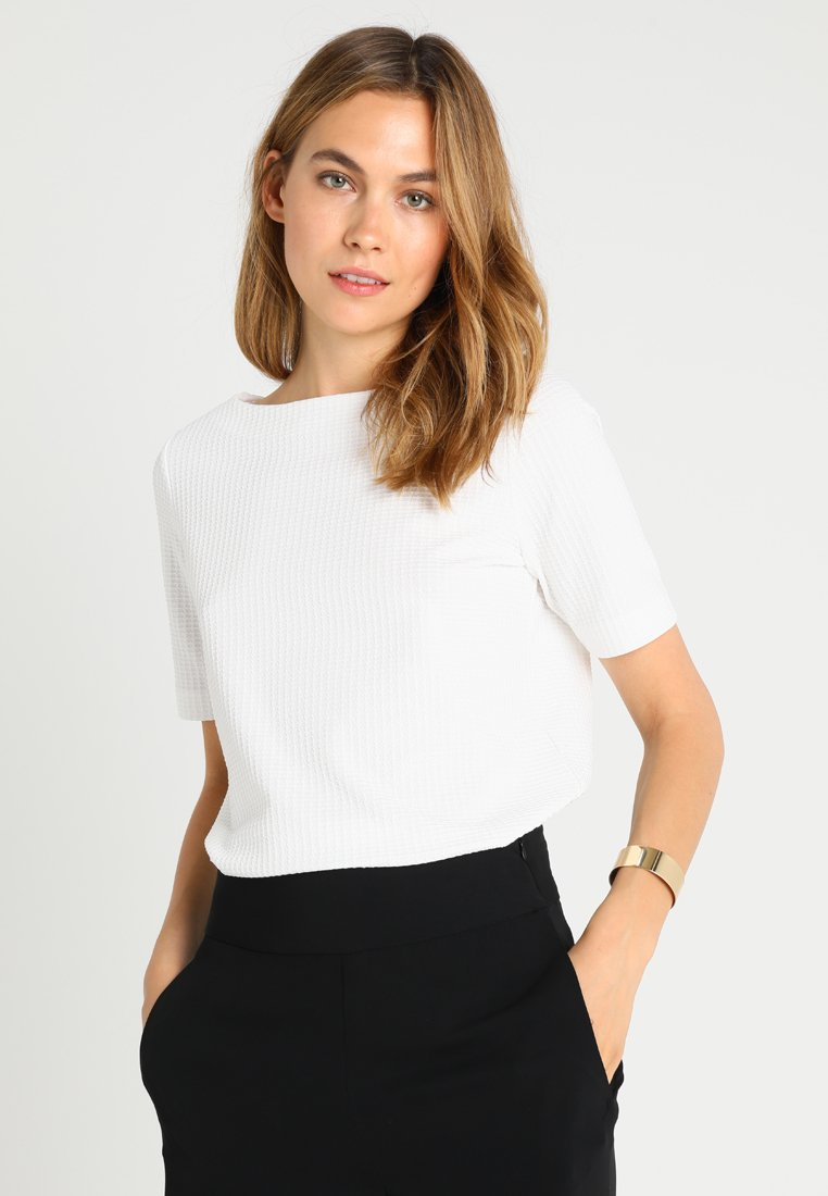 Opus - SIDNEY - Print T-shirt - milk