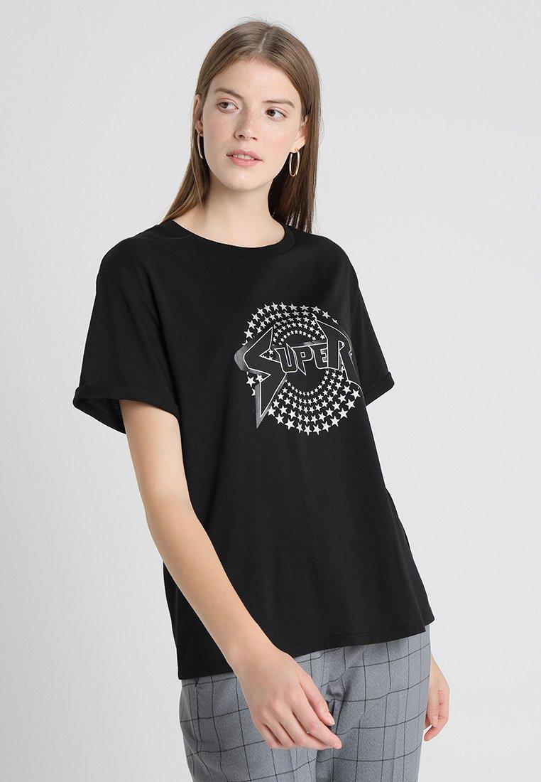 Opus - STARI  - Print T-shirt - black
