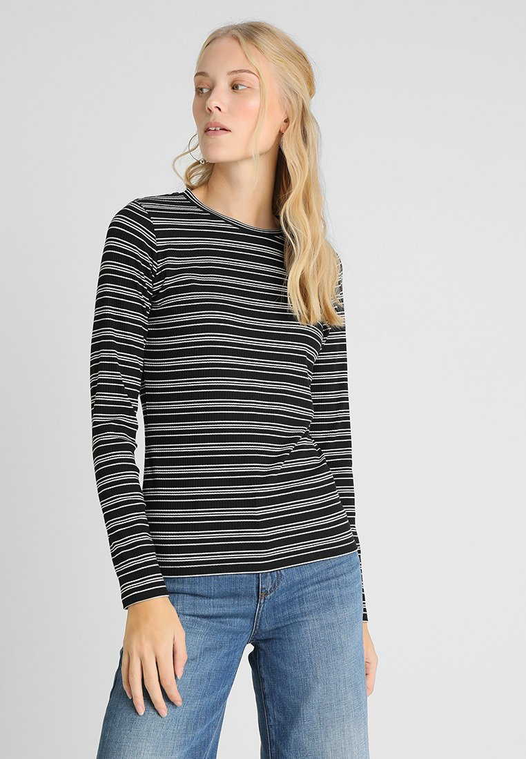 Opus - SNEZA - T-shirt à manches longues - black