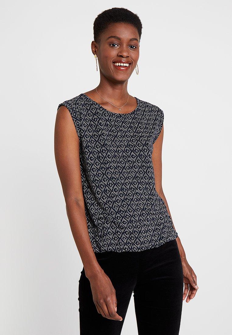 Opus - STROLCHI RHOMB - T-shirts print - simply blue