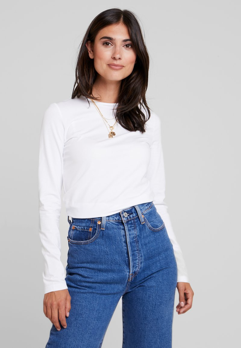Opus - DAILY - Long sleeved top - white