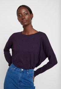 Opus - SILKINA - Long sleeved top - dark violet - 0
