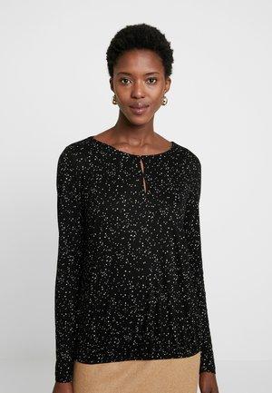 SASKIANA - Maglietta a manica lunga - black