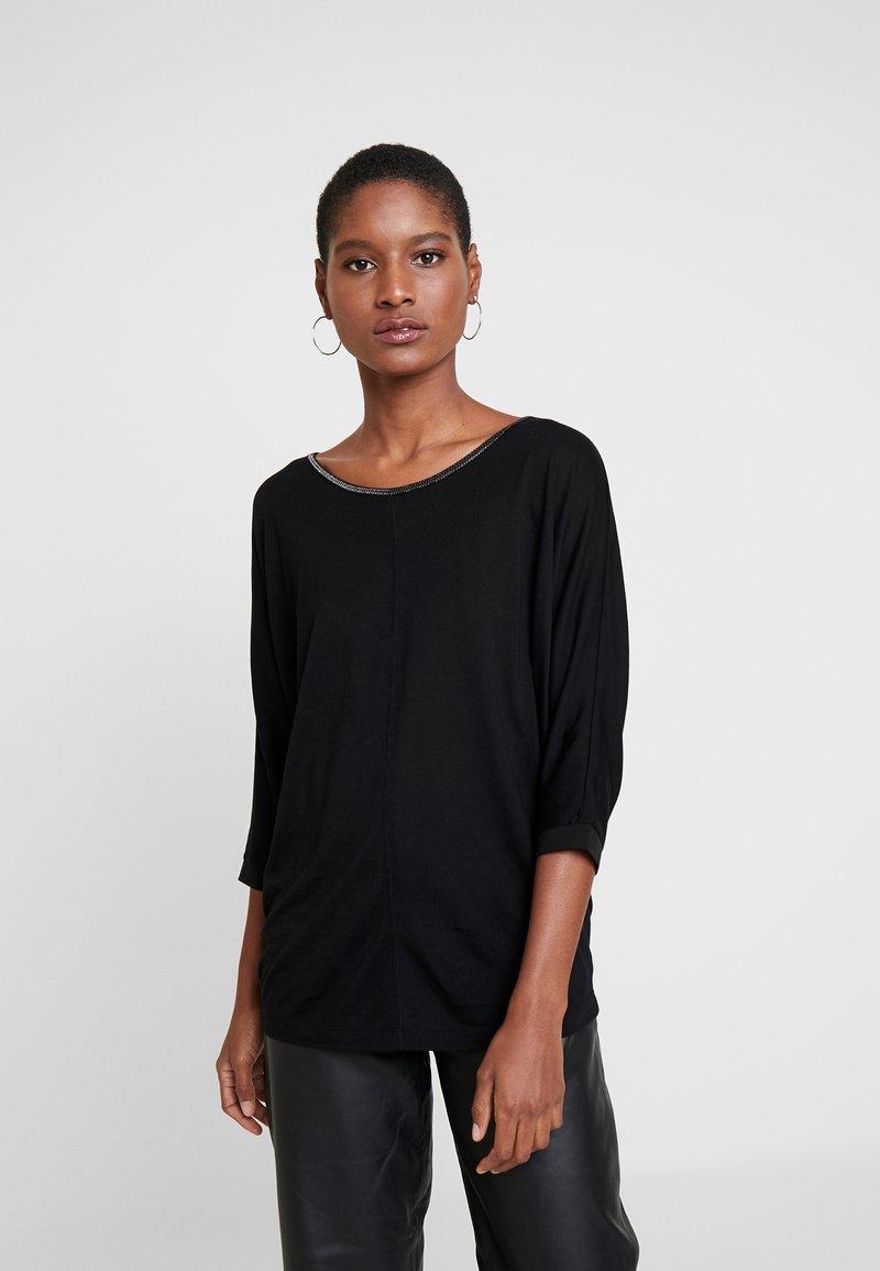 Opus - SELLINA - Maglietta a manica lunga - black