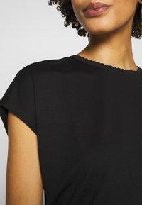 Opus - SUDELLA CROCHET - T-shirt basic - black - 4