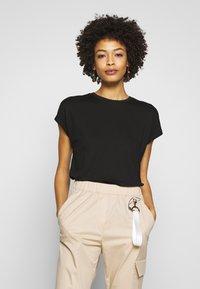 Opus - SUDELLA CROCHET - T-shirt basic - black - 0