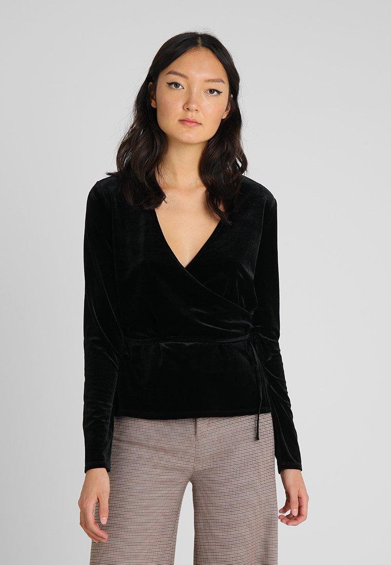 Opus - SENDOLA - Langærmede T-shirts - black