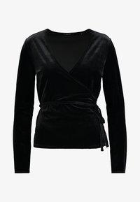 Opus - SENDOLA - Langærmede T-shirts - black - 4
