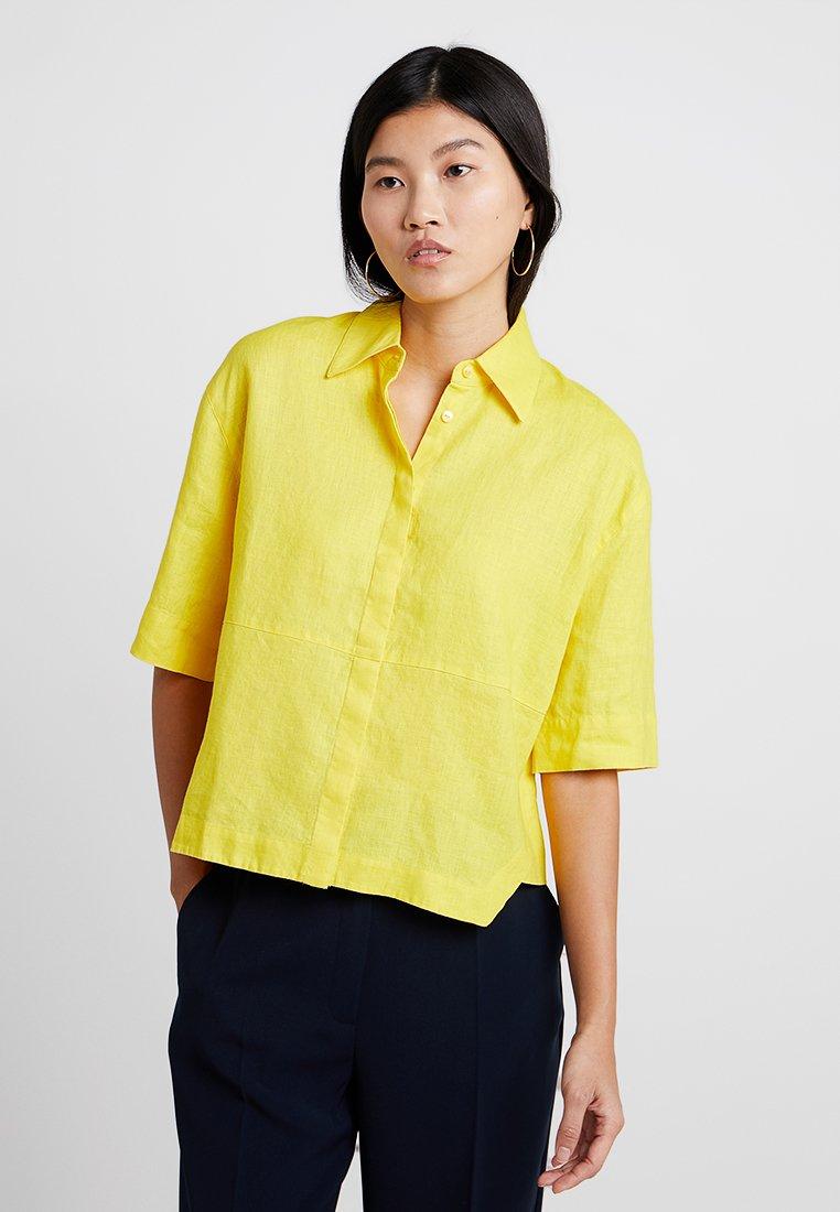 Opus - FRIEDI - Button-down blouse - mellow yellow
