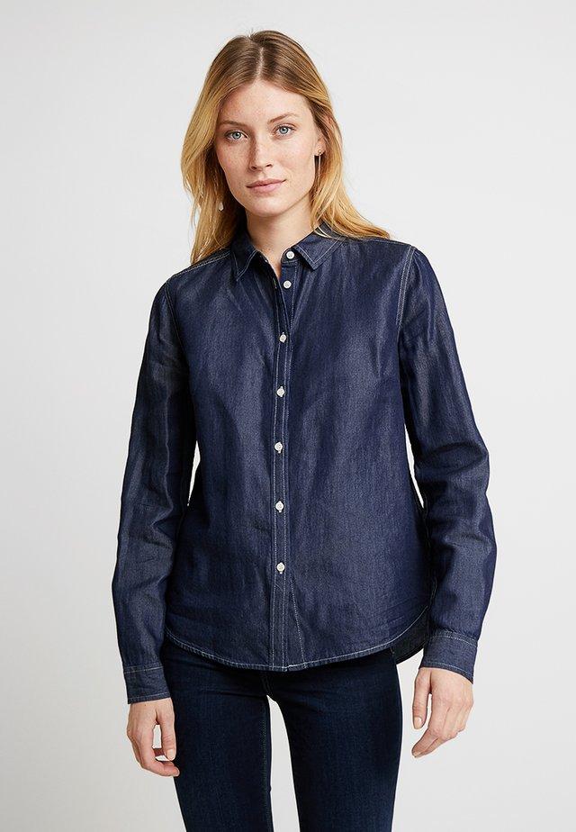 FIM - Button-down blouse - blue denim