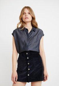 Opus - FALIM - Button-down blouse - authentic blue - 0