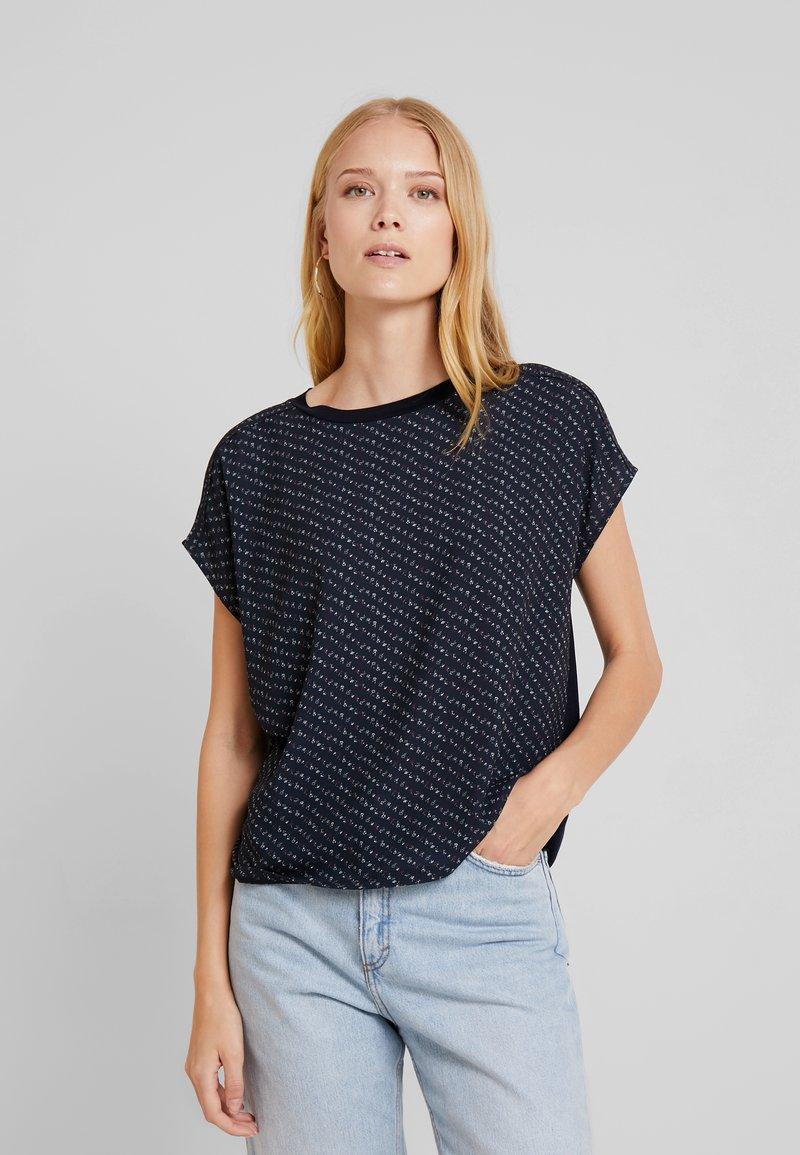 Opus - SIAS PRINT - Bluse - simply blue