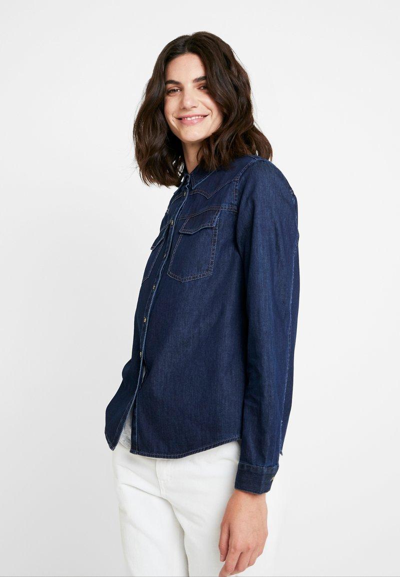 Opus - FEDELE - Button-down blouse - cosmic blue