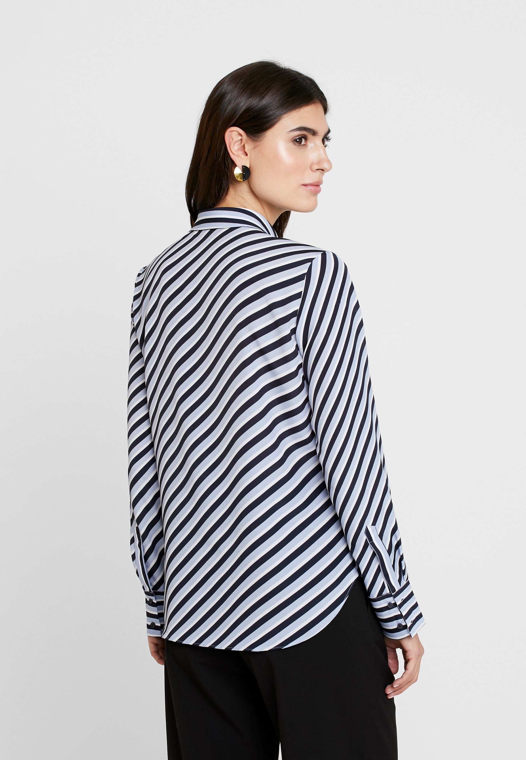 Opus FASTINE DIAGONAL - Button-down blouse - just blue S2WXt