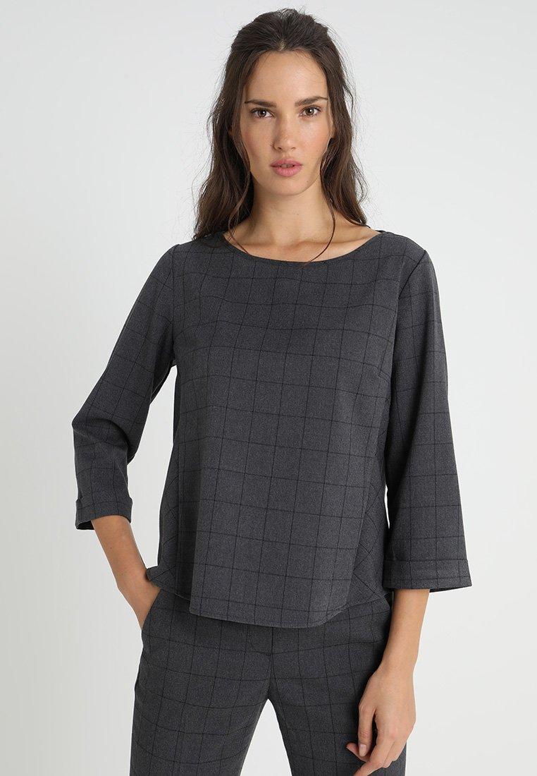 Opus - FATIHA - Bluse - slate grey melange