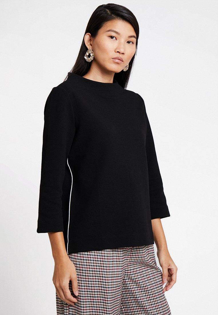 Opus - GALVI DIAGONAL - T-shirt à manches longues - black