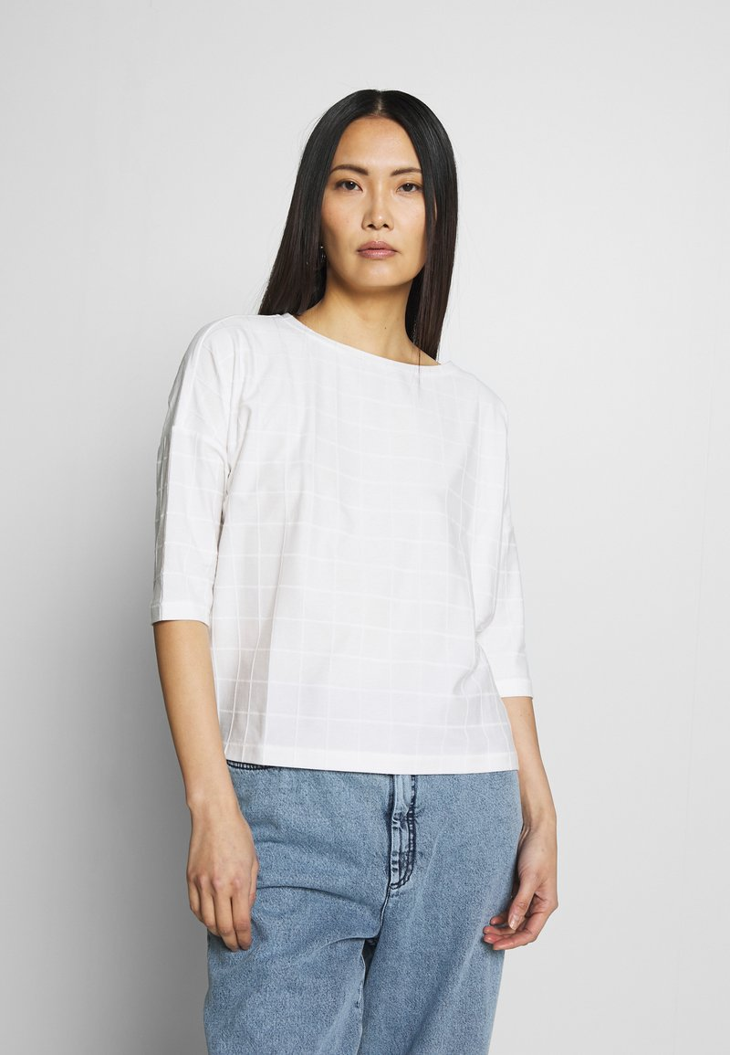 Opus - SARO - Print T-shirt - milk