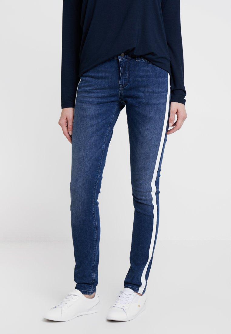 Opus - ELMA STRIPE - Slim fit jeans - blue open