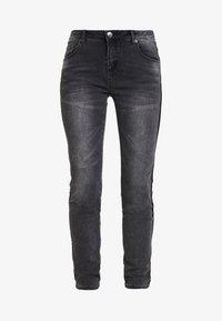 Opus - EVITA BLACK - Skinny džíny - dark black - 4