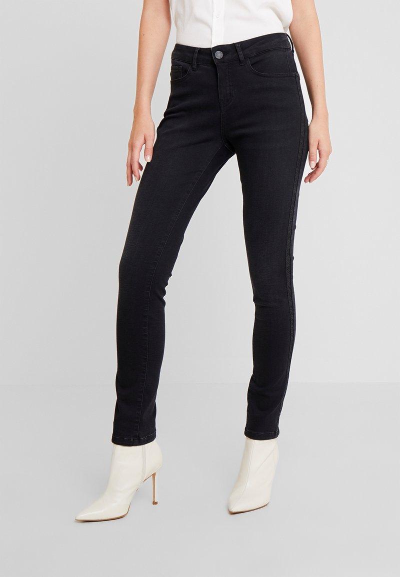 Opus - EMILY SNAKE TAPE - Jeans Skinny Fit - coal black