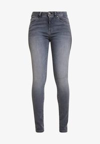 Opus - ELMA GLITTER STRIPE - Džíny Slim Fit - grey washed - 3