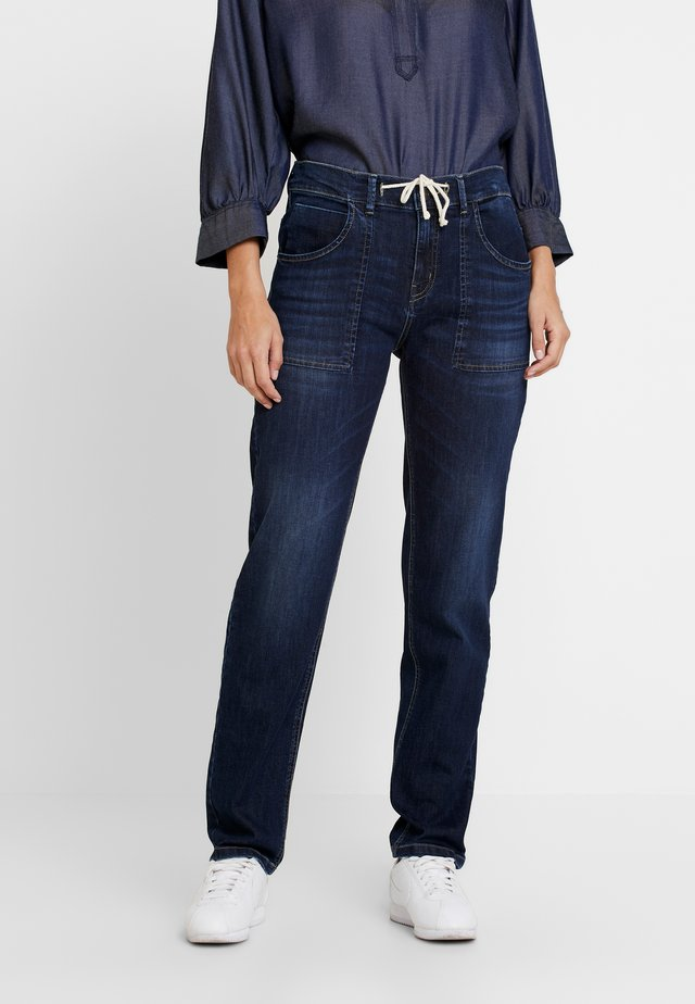 LONE - Jeans Relaxed Fit - dark washed blue