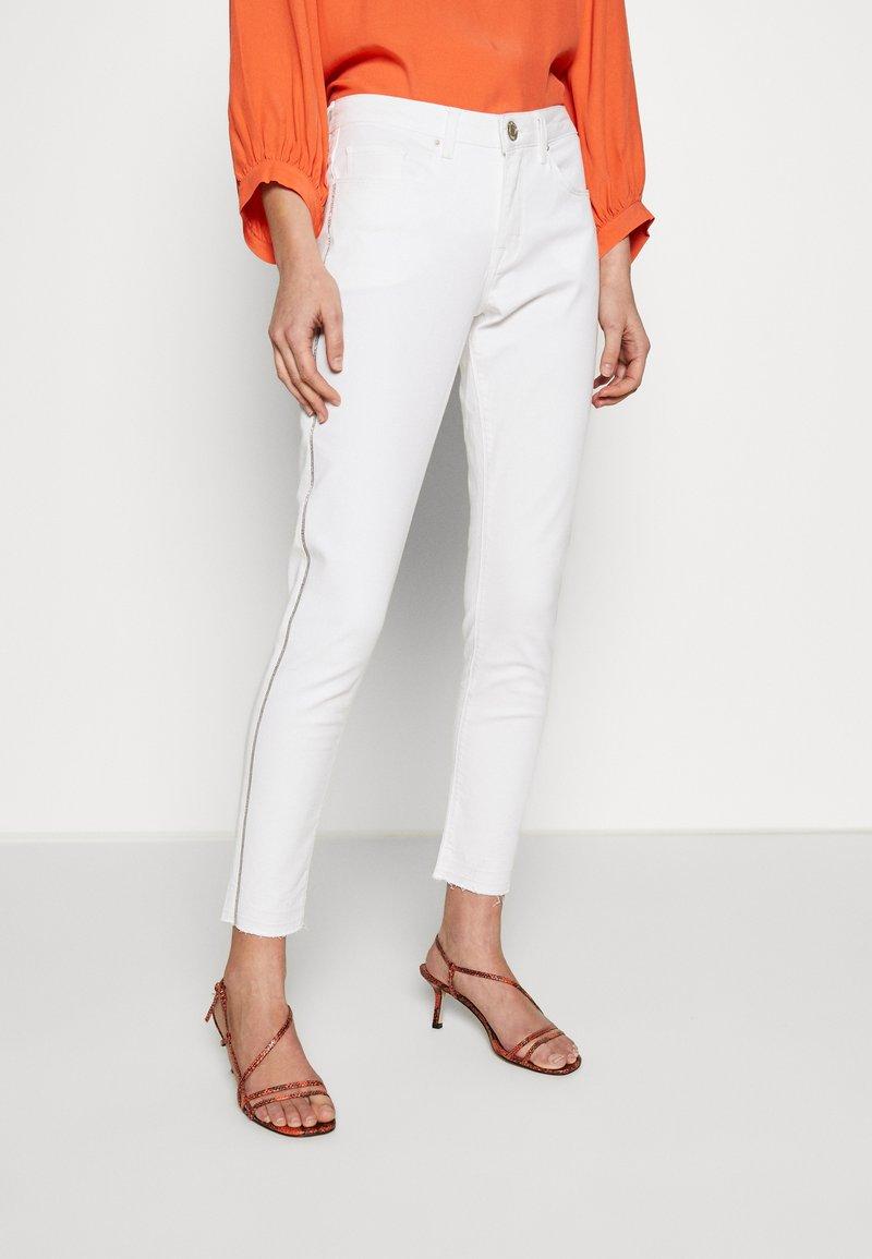 Opus - ELMA 7/8 GLITTER - Jeans Skinny Fit - white