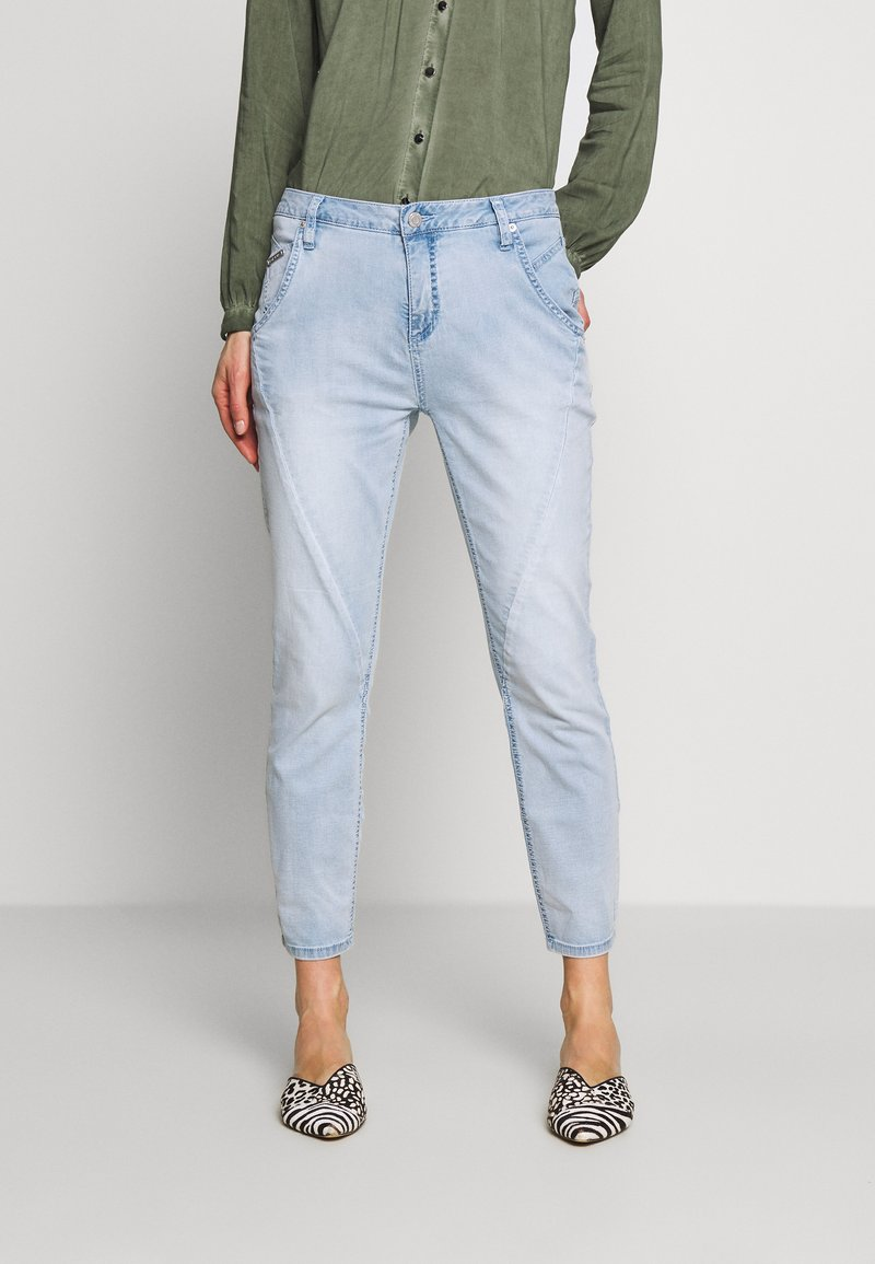 Opus - LETTY - Relaxed fit jeans - light blue washed