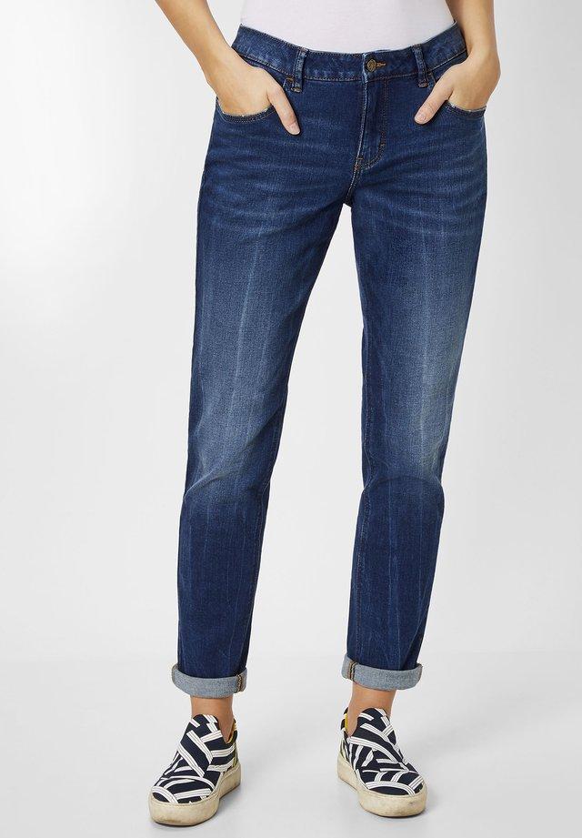Straight leg jeans - dark blue stone wash