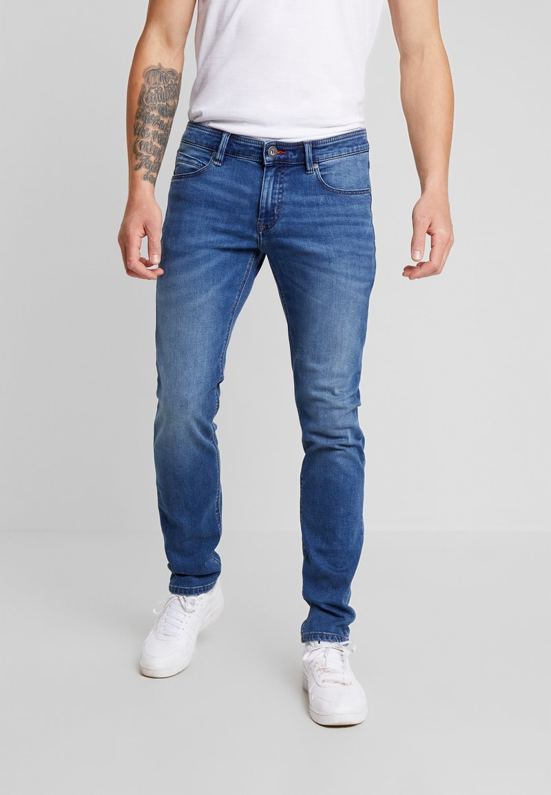 Paddock's - DEAN MOTION COMFORT - Slim fit jeans - mid stone used