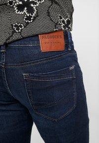 Paddock's - DEAN MOTION COMFORT - Slim fit jeans - dark stone used - 5