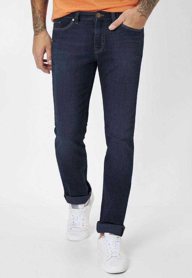 Straight leg jeans - blue/black used