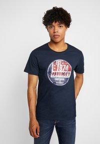 Paddock's - PINT - Print T-shirt - navy - 0