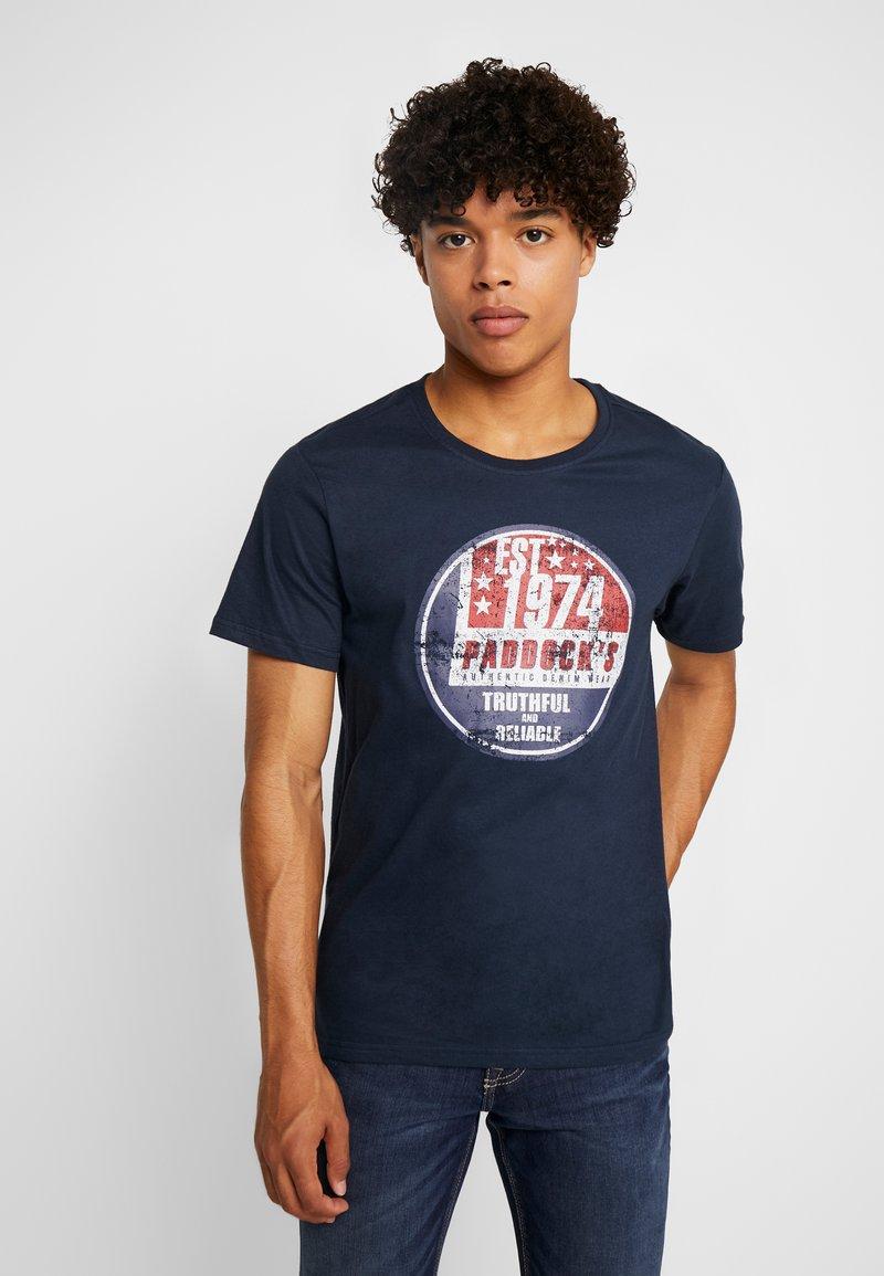 Paddock's - PINT - Print T-shirt - navy