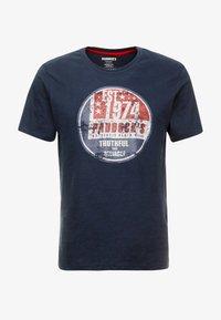 Paddock's - PINT - Print T-shirt - navy - 3