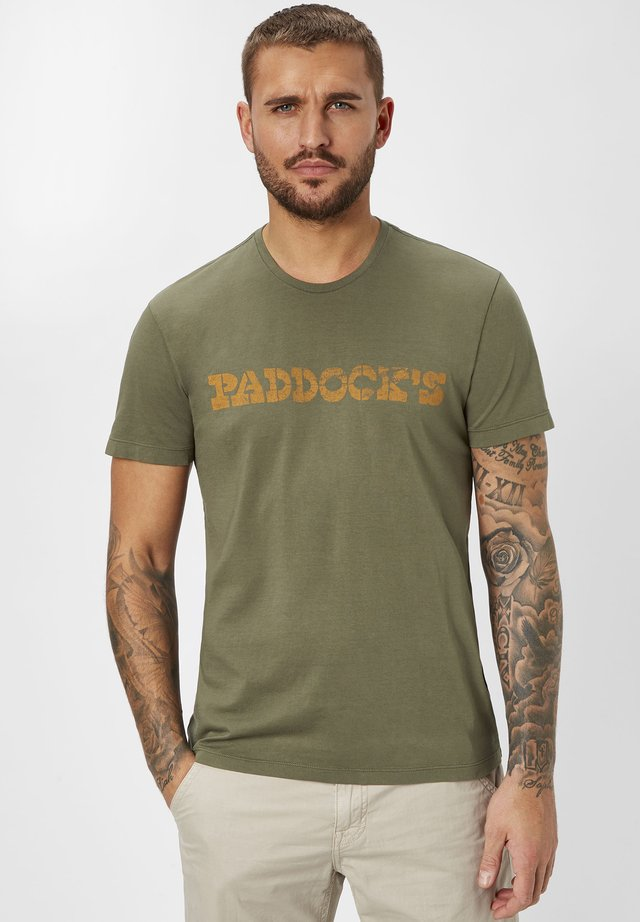 Print T-shirt - dk. khaki