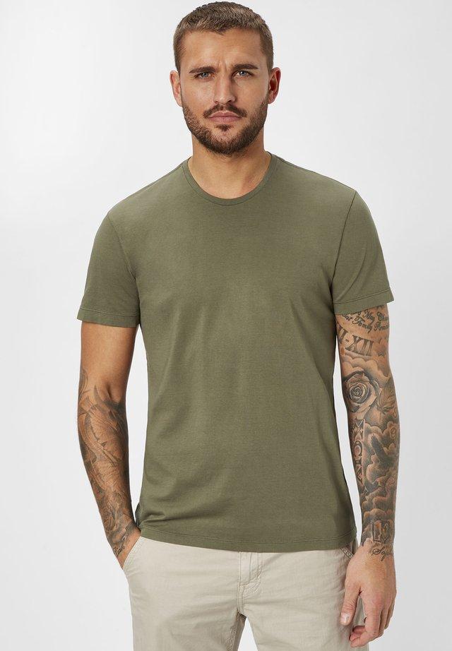 Basic T-shirt - dk. khaki