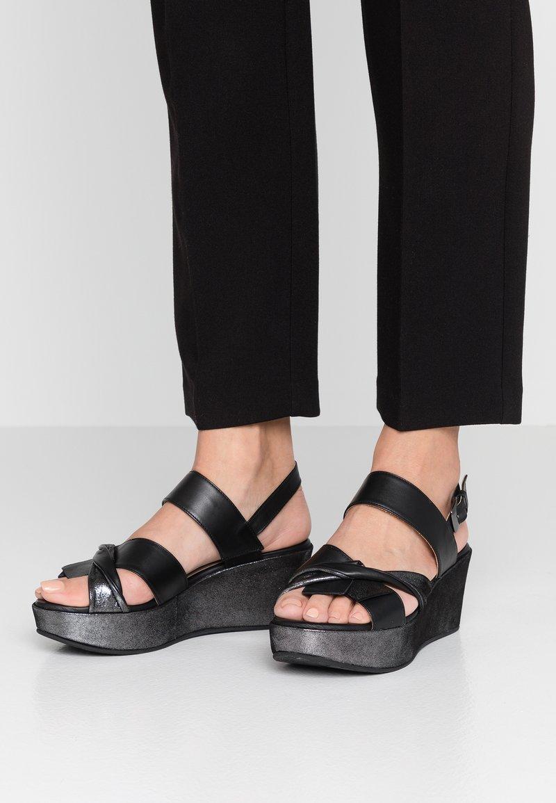 Pinto Di Blu - Platform sandals - black