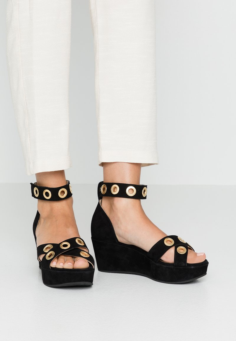 Pinto Di Blu - Sandály na platformě - black