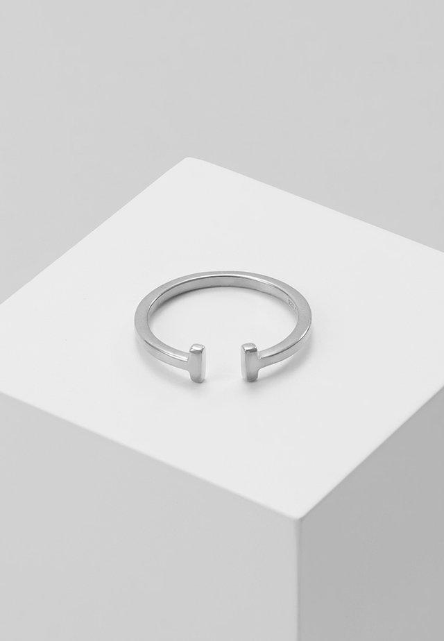 DOUBLE - Prsten - silver-coloured