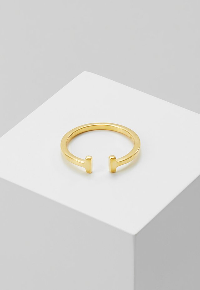DOUBLE - Pierścionek - gold-coloured