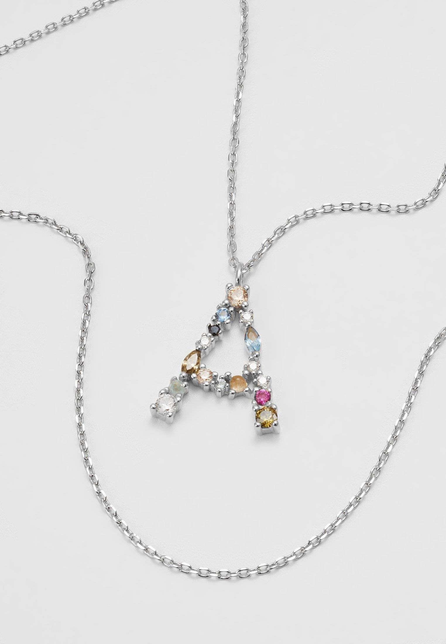 P D Paola LETTER NECKLACE - Halsband - silver-coloured
