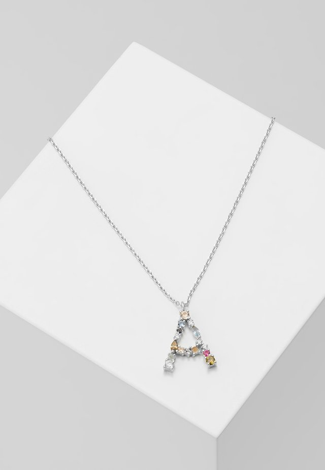 LETTER NECKLACE - Collier - silver-coloured